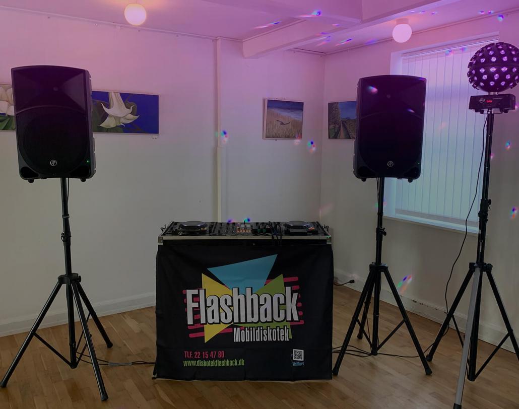 Mobildiskotek Flashback - Lille opstilling